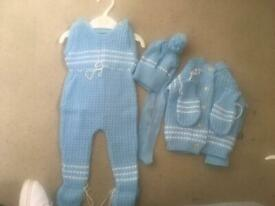 5 piece knitted baby set 0-3 months