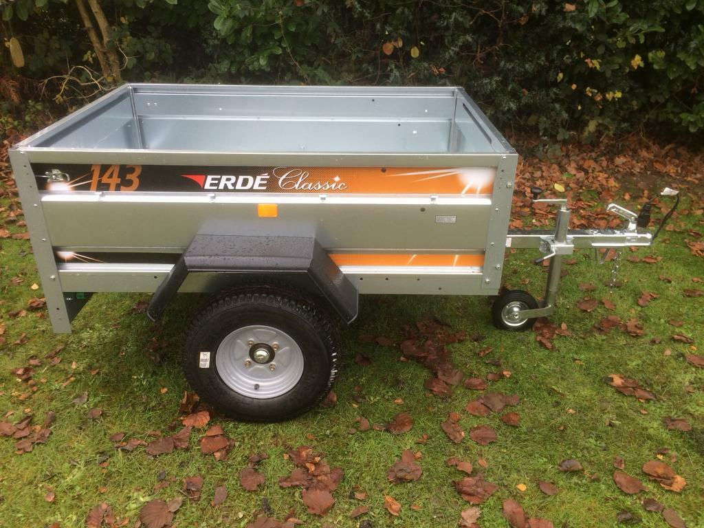 2017 EX DISPLAY ERDE 143 CLASSIC CAR TRAILER CAMPING CARBOOT TIP TIPPER TRAILOR