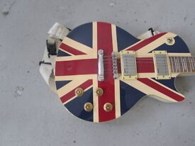 indie guitar union jack style