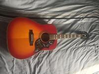 Acoustic guitar- Epiphone hummingbird