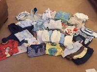 Baby boy clothes bundle 0-6 months 122 items