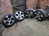 "5x112 Genuine 18"" GOLF GTI MONZA ALLOY WHEELS MK6 MK5 Audi Vw"