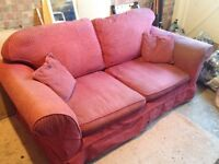 Laura Ashley Red 2 Seater Sofa