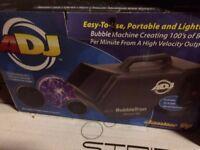 American DJ Bubbletron Bubble Machine with Fluid