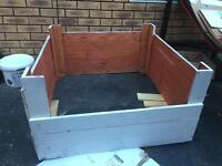 Wooden whelping box large breed