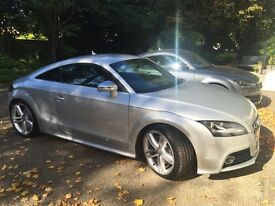Audi TTS - 38k, S-Tronic, FSH, High Spec, Superb Condition, Ice Silver, Paint Protection Film