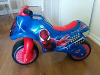 Spiderman plastic bike for 1-3 year olds