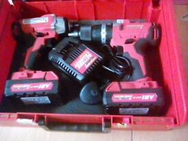 18v hammer drill and impact driver kit workzone