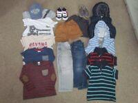Kids Boys Clothes Bundle Next Zara Adidas Tommy Hilfiger H&M 18 - 36 Months