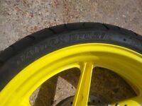 Fireblade rear wheel and tyre