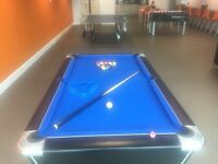6X3 Ft American pool table perfect condition brilliant for home/office entertainment (8 Weeks old)