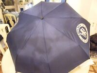 Chelsea FC Official Football Gift Telescopic Compact Umbrella With Torch Handle