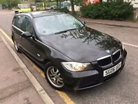 BMW 320D ES ESTATE BLACK 2006 2.0 DIESEL 2 KEYS MOT HISTORY 2 P/OWNR LAST OWNR FROM 2010 CLEAN CAT D