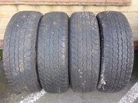 Four 4x4 tyres