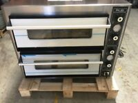 """SUPER PIZZA ELECTRIC PIZZA OVEN DOUBLE DECK STONE BAKED 2 X 4 X 12"""" PIZZA"""