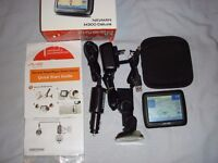 MIO NAVMAN M300 SAT NAV WITH GREAT BRITAIN AND IRELAND MAPS - IN EXCELLENT CONDITION - BOXED.