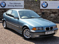 BMW E36 316i Compact, Only 79k Miles, 1997 / R Reg, Manual, 2 Owners, MOT: 1 Year