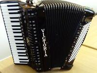 Victoria 'Professional' 120 piano accordion, double cassotto, full midi, internal mics