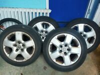 Vauxhall steel wheels x4
