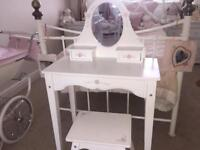Kiddie craft wooden dressing table and stool