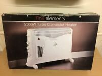 Fine Element Turbo Convector Heater with 24 Hours Built in Timmer, 2000 watts brand New Never Used.