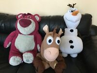 Large Lotso,bullseye and Olaf soft toys. Lotso and bullseye are genuine Disney store toys. £5 each