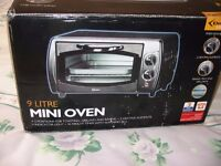 DELTA 9 LITRE MINI OVEN NEW UNWANTED GIFT BOXED
