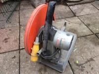 Makita 355mm portable cut off saw large metal cut off saw 110v used £75