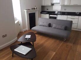 Grey sofa bed from Habitat