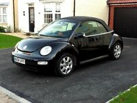 VW Beetle Cabriolet, Black, Great condition, Only 2 owners and we've loved it since 2006