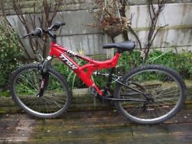 Trax mountain bike been in shed a few years good condition