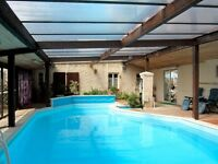 France - superb holiday home large indoor pool games room exclusive use. Term time reductions !