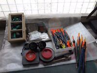 Selection of Floats, Leisure Weights, Hooks, Shot, Hook tiers and Disgorgers.