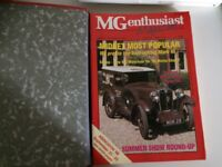 MG Enthusiast Binder and Magazines Aug/Sept 1988 onwards 12 issues
