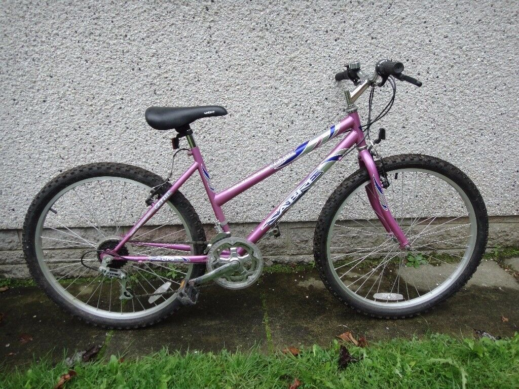Sabre Genie bike 26 inch wheels, 18 gears, 17 inch frame, purple working order can possibly deliver