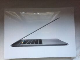 New unopened Macbook Pro Retina touch bar, 15.4Inch, Space Grey, 2.8GHz, 512GB