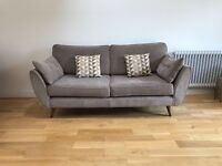 French Connection Zinc 3 seater sofa in mushroom combination from DFS