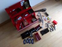 Engineers tool box and various tools