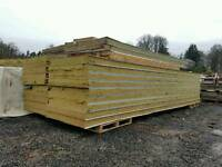 5.9m Insulated cold room or shed wall / roof panels