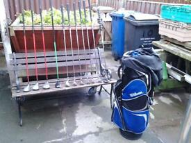Golf Clubs With Wilson Bag