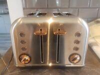 Morphy Richards Rose Gold 4 Slice Toaster