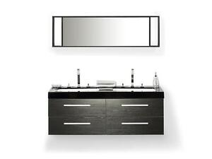 Bathroom Furniture black Wash Basin Cabinets Mirrors