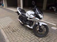 Honda CBF 125 2013 - Solid Runner - FSH - White/Black - New MOT - Scorpion Exhaust