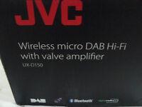 NEW & BOXED JVC UX-D150 Wireless DAB Hi-fi with Valve amplifier 150W USB Black & Silver