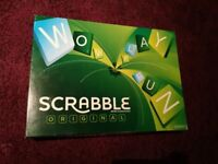 Boxed Scrabble board game set