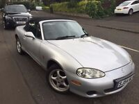 mazda mx5 1800.54 plate silver.one years mot
