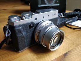 Fujifilm X30 Silver - retro-looking compact camera - Brixton Clapham Soho
