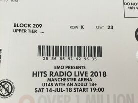 Hits radio live tickets with Take That Saturday 14/7 Manchester arena