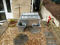 4 Homebase zinc troughs for garden