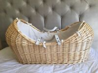 Beautiful Moses Basket With Stand